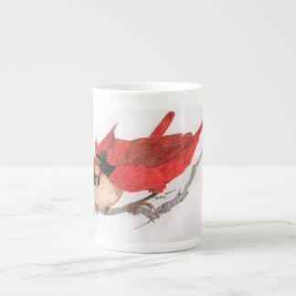 Paare der Kardinalskaffee-Tasse Porzellantasse