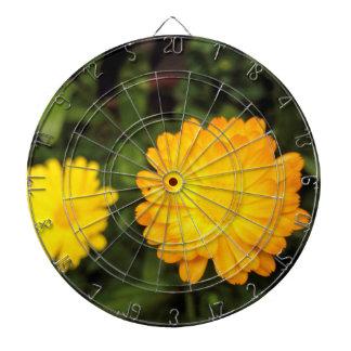 Paare der kleinen gelben Blumen Dartscheibe
