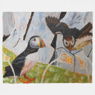 Paare der Papageientaucher-Decke Fleecedecke