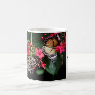 Paare der Schmetterlings-Tasse Kaffeetasse