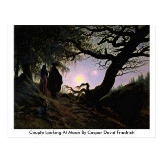 Paare, die Mond durch Caspar David Friedrich Postkarte
