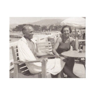 Paare im Feiertag in Cannes, Frances im Jahre 1930 Leinwanddruck