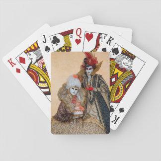 Paare im Karnevals-Kostüm, Venedig Spielkarten