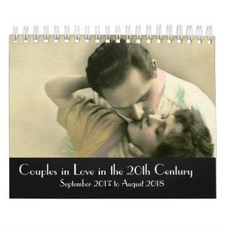 Paare in der Liebe 2017-2018 des 20. Jahrhunderts Abreißkalender