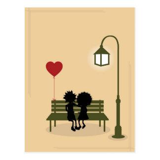 Paare in der Liebe Postkarte