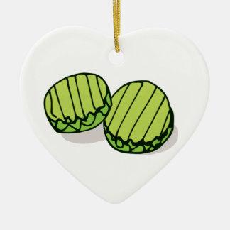 Paare in einer Essiggurke zusammen personalisiert Keramik Ornament
