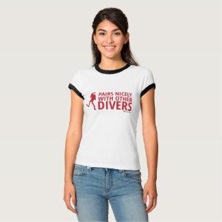 Paare Nizza mit anderen Tauchern T-Shirt