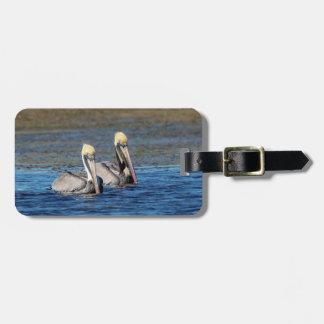 Paare Pelikane Gepäckanhänger