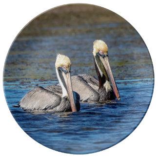 Paare Pelikane Porzellanteller