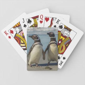 Paare Pinguine auf dem Strand Spielkarten