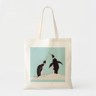 Paare Pinguine Budget Stoffbeutel