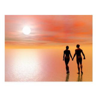 Paare Romance - 3D übertragen Postkarte