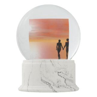 Paare Romance - 3D übertragen Schneekugel