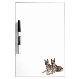 Paare Schäferhund-Hunde Memoboard