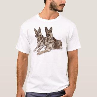 Paare Schäferhund-Hunde T-Shirt