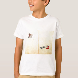 Paare von sissors und von Spatzen durch Katsushika T-Shirt