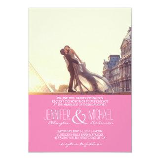 Paare vor Louvre/Hochzeits-Einladung Karte