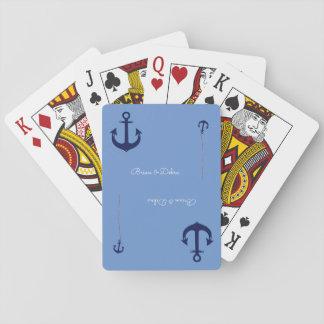 Paarnamen mit den Ankern blau Pokerkarte