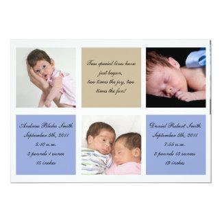 Paart Geburtsmitteilung - Jungen 12,7 X 17,8 Cm Einladungskarte