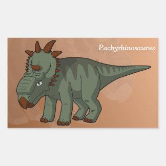 Pachyrhinosaurus-Dinosaurier Rechteckiger Aufkleber