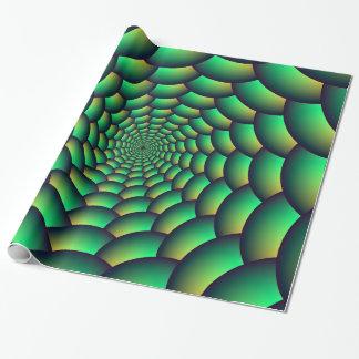 Packpapier-grüner Ball-Spiralen-Tunnel Geschenkpapier