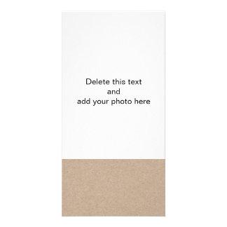 Packpapier-Hintergrund Browns Gedruckt Individuelle Photo Karten