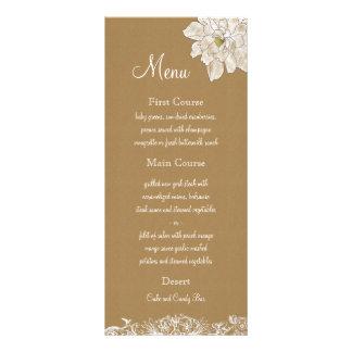 Packpapier-Hochzeit: Menü-Karten 12,2 X 22,9 Cm Kartendruck