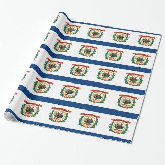 Packpapier mit Flagge von West Virginia