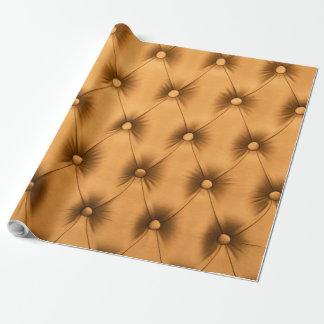 Packpapier mit goldener capitone Beschaffenheit