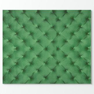 Packpapier mit grüner capitone Beschaffenheit