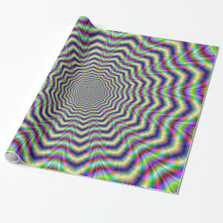 Packpapier-psychedelischer Netz-Stern Geschenkpapier