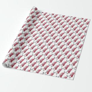 Packpapier, rote Ameisen-Mistelzweig-Antenne Geschenkpapier