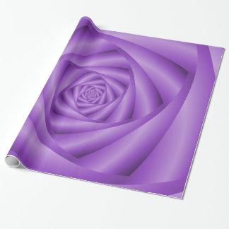 Packpapier-Veilchen-Spirale Geschenkpapier