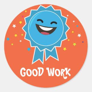 Pädagogischer Aufkleber der guten Arbeit