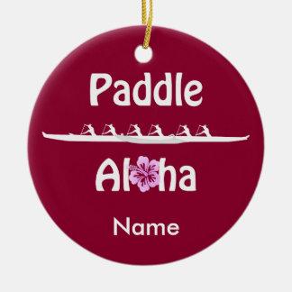 Paddel Aloha-Wahine Keramik Ornament