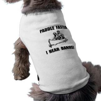 Paddel hören schneller Banjos 2 Ärmelfreies Hunde-Shirt