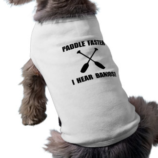 Paddel hören schneller Banjos Ärmelfreies Hunde-Shirt