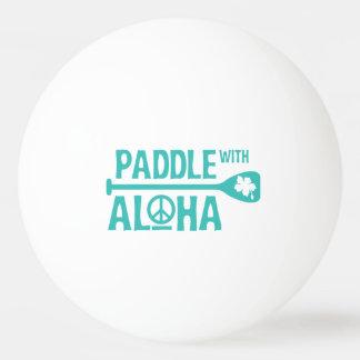 Paddel mit Aloha - Klingeln Pong Ball - Türkis Tischtennis Ball