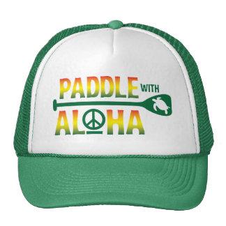 Paddel mit Aloha Reggae-Fernlastfahrer-Hut Kappen