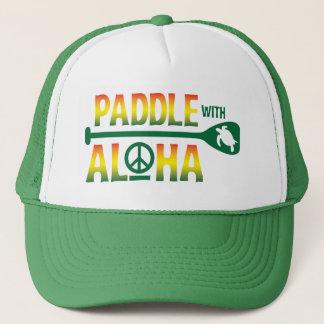 Paddel mit Aloha Reggae-Fernlastfahrer-Hut Truckerkappe