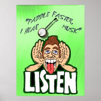 PADDEL SCHNELLER, HÖRE ICH BANJO   MUSIC-POSTER POSTER