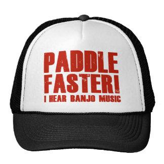 Paddel schneller höre ich Banjo-Musik Retrokultmützen