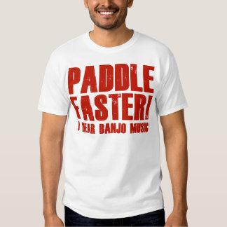 Paddel schneller höre ich Banjo-Musik T Shirt