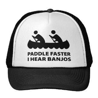 Paddel schneller höre ich Banjos Cap