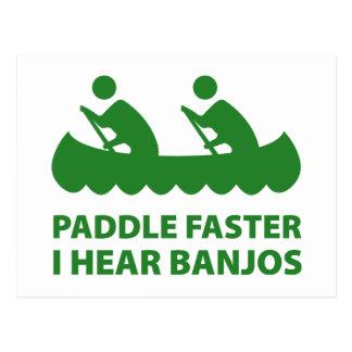 Paddel schneller höre ich Banjos Postkarten