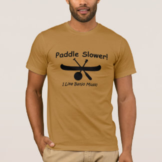 Paddel schneller (Schwarzes) T-Shirt