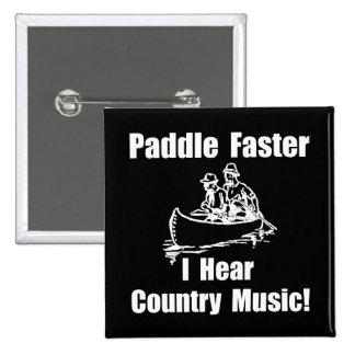 Paddel-schnellere Countrymusik Quadratischer Button 5,1 Cm