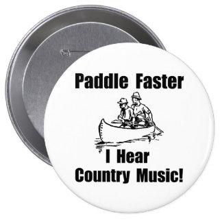 Paddel-schnellere Countrymusik Runder Button 10,2 Cm