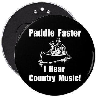 Paddel-schnellere Countrymusik Runder Button 15,3 Cm