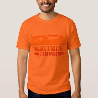 Paddel-schnellerer Kanu-T - Shirt